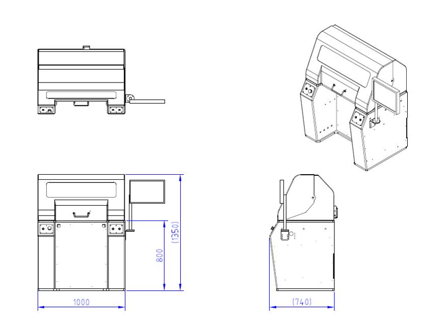 ROTA-H10 通用型臥式平衡機的設計圖